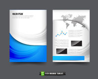 Flyer Brochure background templated 016 Global world map element Royalty Free Stock Photography