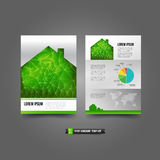 Flyer Brochure background templated 018 Home concept and ecology Stock Photo