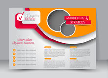 Flyer, brochure, billboard template design landscape orientation. For education, presentation, website. Orange and red color. Editable vector illustration vector illustration
