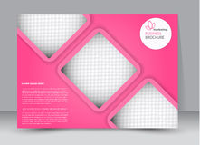 Flyer, brochure, billboard template design landscape orientation. For education, presentation, website. Pink color. Editable vector illustration royalty free illustration