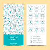 Flyer, brochure for dental clinic. Set of promotional products. Flat design. Vector Royalty Free Stock Image