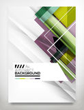 Flyer, Brochure Design Template. Business Abstract Geometric Background, Web or Print Design Royalty Free Stock Image