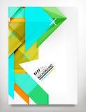 Flyer, Brochure Design Template Stock Images