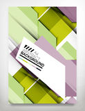 Flyer, Brochure Design Template. Business Abstract Geometric Background, Web or Print Design Stock Image