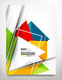 Flyer, Brochure Design Template. Business Abstract Geometric Background, Web or Print Design Stock Photo