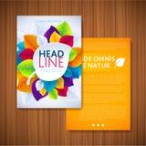 Flyer Brochure Design Template. Leaves Natural Stock Image
