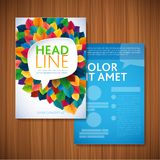 Flyer Brochure Design Template. Leaves Natural and Ecology Concept Stock Photo