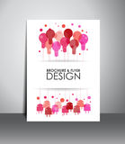 Flyer or brochure design. Royalty Free Stock Photography