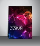 Flyer or brochure design. Royalty Free Stock Images