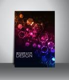 Flyer or brochure design. Stock Image