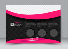Flyer, brochure, magazine cover template design landscape orientation Royalty Free Stock Photography