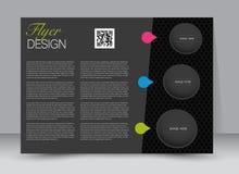 Flyer, brochure, magazine cover template design landscape orientation. For education, presentation, website. Black and pink color. Editable vector illustration Royalty Free Stock Photos