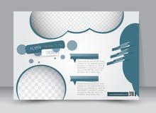Flyer, brochure, magazine cover template design landscape orientation Royalty Free Stock Photography