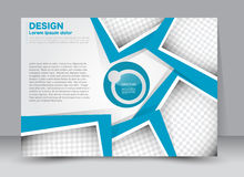 Flyer, brochure, magazine cover template design landscape orientation Royalty Free Stock Images