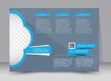 Flyer, brochure, magazine cover template design landscape orientation Stock Image