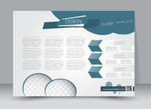 Flyer, brochure, magazine cover template design landscape orientation Stock Image