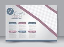 Flyer, brochure, magazine cover template design landscape orientation. For education, presentation, website.  Editable vector illustration Stock Photo