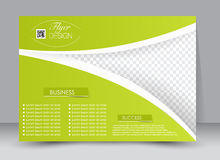 Flyer, brochure, magazine cover template design landscape orientation Stock Photos