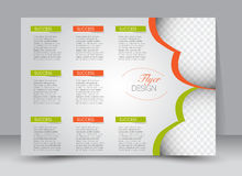 Flyer, brochure, magazine cover template design landscape orientation Royalty Free Stock Photos