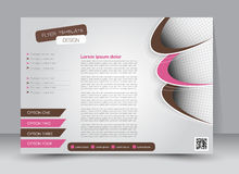 Flyer, brochure, magazine cover template design landscape orientation Royalty Free Stock Photo