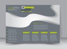 Flyer, brochure, magazine cover template design landscape orientation. For education, presentation, website. Green and grey color. Editable vector illustration Royalty Free Stock Photo