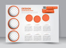 Flyer, brochure, magazine cover template design landscape orientation Stock Photography