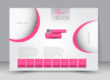 Flyer, brochure, magazine cover template design landscape orientation Royalty Free Stock Photo