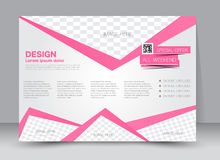 Flyer, brochure, magazine cover template design landscape orientation Royalty Free Stock Images