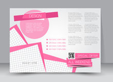 Flyer, brochure, magazine cover template design landscape orientation Stock Photos