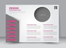 Flyer, brochure, magazine cover template design landscape orientation Stock Images