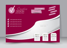 Flyer, brochure, magazine cover template design landscape orientation. For education, presentation, website. Pink color. Editable vector illustration Stock Photo