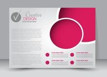 Flyer, brochure, magazine cover template design landscape orientation royalty free illustration