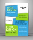Flyer, brochure or magazine cover template Royalty Free Stock Photo