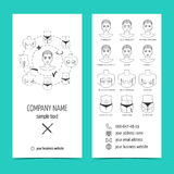 Flyer, brochure for plastic surgery clinic with line icons. Set of promotional products. Flat design. Vector Royalty Free Stock Photo