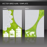 Flyer brochure template Royalty Free Stock Photos