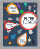 Flyer business. Royalty Free Stock Photography