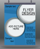 Flyer business. Stock Photography