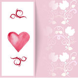 Flyer card with hearts and place for text Royalty Free Stock Images