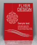 Flyer Christmas. Royalty Free Stock Photo