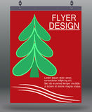 Flyer Christmas. Stock Photography