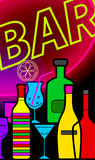 Flyer for cocktail bars Stock Image
