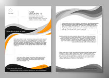Flyer cover business brochure vector design, Leaflet advertising abstract background, Modern poster magazine layout. Template, Annual report for presentation stock illustration