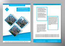 Flyer cover business brochure vector design, Leaflet advertising abstract background, Modern poster magazine layout. Template, Annual report for presentation royalty free illustration