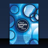 Flyer or Cover Design. Blue flyer or cover design with blue bubbles Royalty Free Stock Images