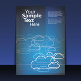 Flyer or Cover Design Royalty Free Stock Photo