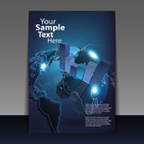 Flyer or Cover Design. Business Flyer or Cover with Charts on Earth Globe Design in Editable Vector Format Stock Photo