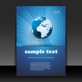 Flyer or Cover Design. Blue Abstract Business/Tech Flyer or Cover Design - Illustration in Freely Scalable & Editable Vector Format Royalty Free Stock Photos