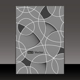 Flyer or Cover Design. Abstract Black and White Flyer or Cover with Geometric Mosaic Design - Illustration in Editable Vector Format royalty free illustration