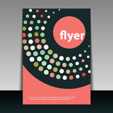 Flyer or Cover Design. Abstract Colorful Retro Styled Flyer or Cover Design Illustration in Editable Vector Format Royalty Free Stock Images