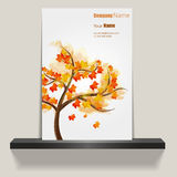 Flyer or Cover Design - Autumn Leaves Royalty Free Stock Images